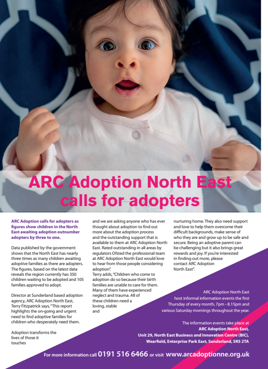 ARC Adoption North East In the media